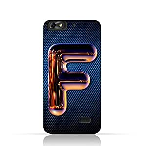 Huawei Honor 4C TPU Silicone Case with Chrome Night Letter F Design Design