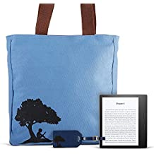"""All-New Kindle Oasis Travel Bundle including Kindle Oasis 7"""" E-Reader (Champagne Gold, 32GB, Wifi, Special Offers), Kindle branded tote bag, Kindle branded luggage tags (2) - blue"""