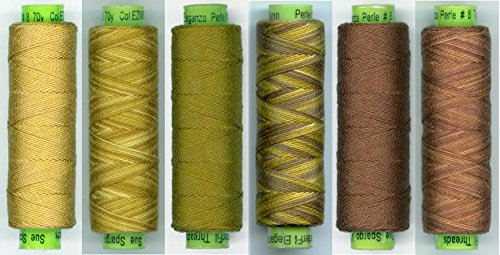 Sue Spargo Eleganza #8 Perle 70yd Spools Polished Cotton for Embroidery Color Set #19