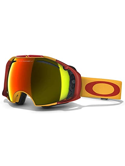 74aee4c89c Oakley Airbrake Golden Poppy Adult Ski Snowmobile Goggles Eyewear - Fire  Iridium and Persimmon One