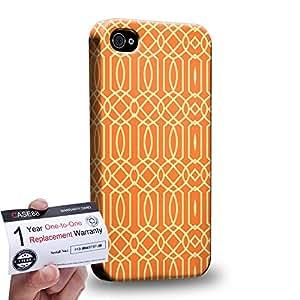 Case88 [Apple iPhone 4 / 4s] 3D impresa Carcasa/Funda dura para & Tarjeta de garantía - Art Carpet And Tapestry Flame