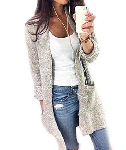 Mansy Womens Knitting Sweater Outwear