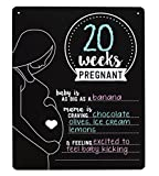 Pearhead Pregnancy Photo Sharing Chalkboard Sign Prop, Black