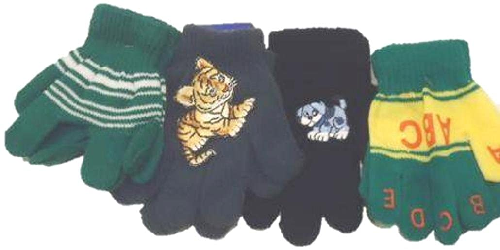 Set of Four Pairs Magic Gloves for Infants Toddlers Ages 1-5 Years