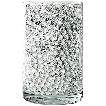 SooperBeads 20,000 Vase Filler Beads Gems Water Growing Crystal Clear Translucent Gel Pearls For Vases, Wedding Centerpiece, Floral Decoration, Plants, Kids Sensory Play Water table activities (Clear)