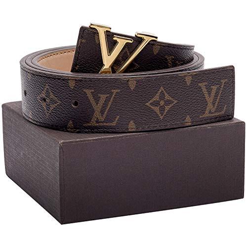 - Gold/Silver/Black Buckle Leather Unisex Fashion Belt for Men or Women Pants Jeans Shorts Dresses ~ 3.8cm Belt Width