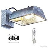 TopoLite 315W CDM CMH (Ceramic Metal Halide) Commercial Hydroponic Grow Light Fixture 120/240V UL ETL Listed with One Bulb/ 120V Plug