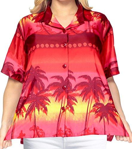 hawaiianischen Strand tragen Shirt-Kleid mit kurzen �rmeln Bluse obere Abdeckung nach oben gedr�ckt xxl Damen