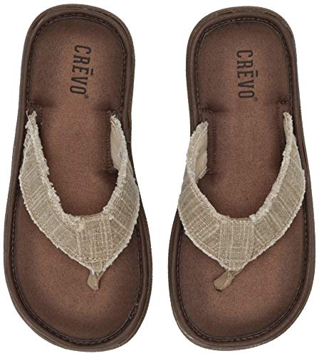 Crevo Men's Monterey Ii Sandal, Beige, 10 M US