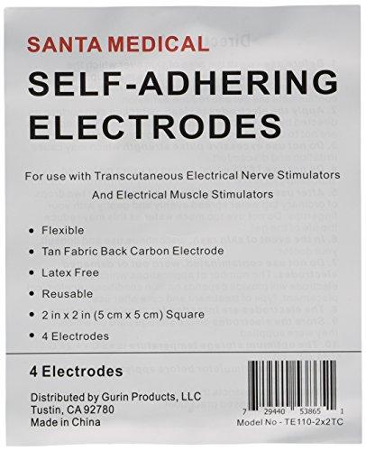 Santamedical-8-2-X-2-Re-Usable-Tan-Carbon-Electrode-Pads-with-Premium-Gel-Satisfaction-Guaranteed