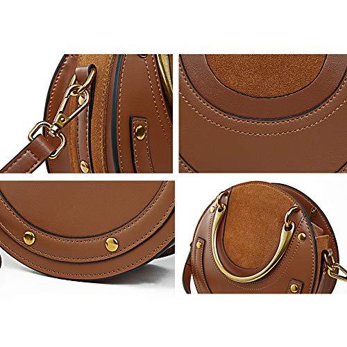 Donna A Per Donna 9 Borsa brown In Pelle Tracolla Hgdr Black Portatile 20cm Piccola 20 Con v15YqwCw