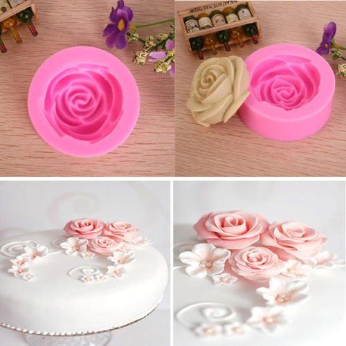 3d chocolate rose molds - 6