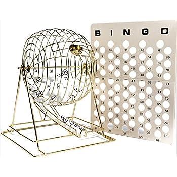 Image of Bingo Sets Regal Games Jumbo Professional Brass Ping Pong Ball Bingo Cage