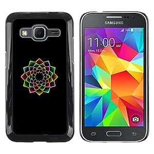 Paccase / SLIM PC / Aliminium Casa Carcasa Funda Case Cover para - fractal floral art minimalist black vibrant - Samsung Galaxy Core Prime SM-G360