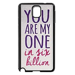 Samsung Galaxy Note 3 Cell Phone Case Black One In Six Billion T5L4EX