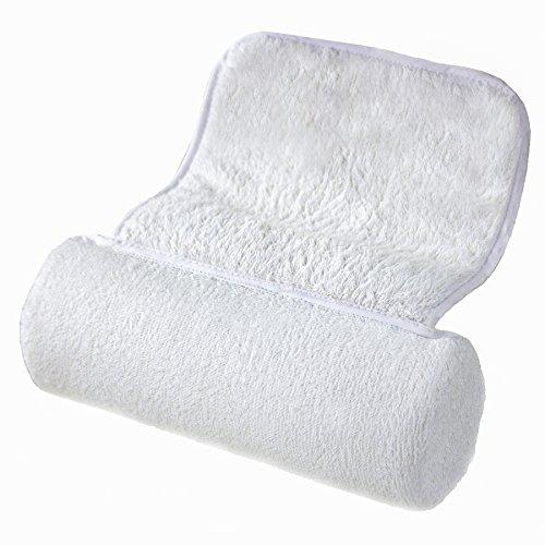 Zleepi luxe bain oreiller - douce serviette éponge, ventouses anti dérapant. Design Premium pour soutenir des épaules et du cou.