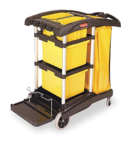 Rubbermaid Commercial FG9T7300BLA Housekeeping Cart with ...