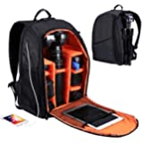 Outdoor Portable Waterproof Scratch-proof Dual Shoulders Backpack Camera Accessories Bag Digital DSLR Photo Video Bag -Black
