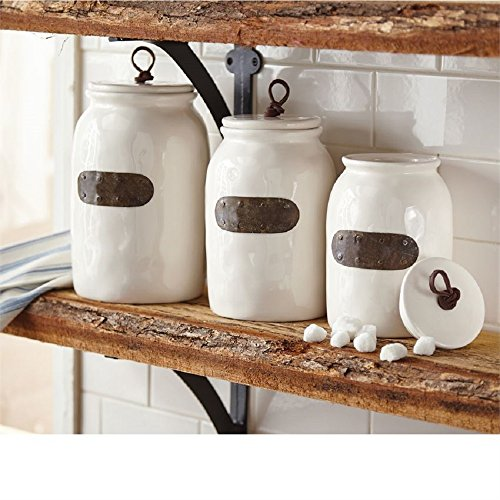 Bistro Canisters, sizes 9 inch, 8 inch and 7 inch Tall.