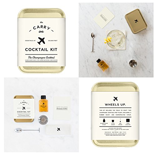 The Carry On Cocktail Kit Old Fashioned, Moscow Mule, Gin and Tonic, Bloody Mary, Hot Toddy, Champagne Cocktail - 6 Pack Carry On Cocktail Kit Holiday Set, Six Carry On Cocktail Kits Makes 12 Drinks by Sawdust + Oil (Image #6)