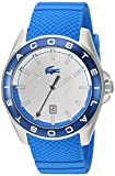 Lacoste Men's 2010905 Sport Westport - 3h Ss Case Blue Silicone Strap and White Dial with Blue Bezel Watch