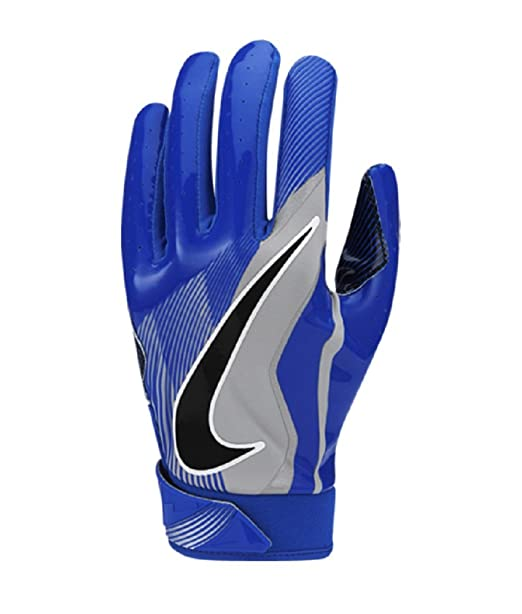 Boy s Nike Vapor Jet 4 Football Gloves Racer Blue Wolf Grey Black Size  Medium 2dd0f88aeb