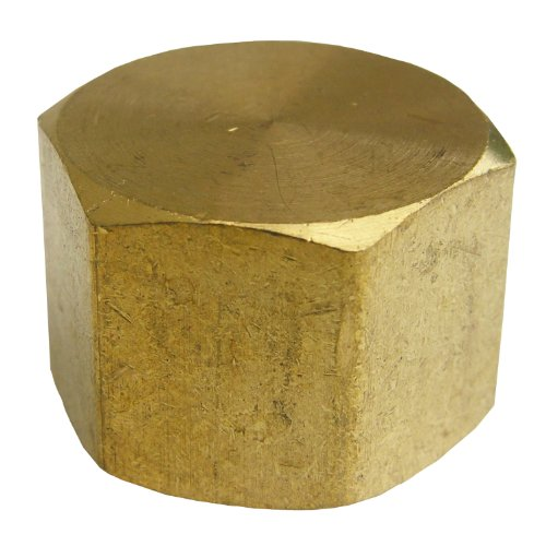 LASCO 17-9151 3/4-Inch Female Pipe Thread Brass Cap