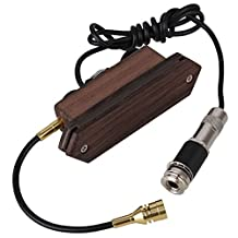 Yibuy Rosewood Magnetic Dual Coil Acoustic Guitar Soundhole Pickup with Microphone