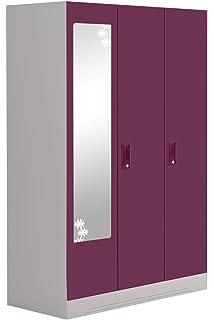 2f5dbd196 GODREJ INTERIO Slimline SLIM00341 3 Door Almirah with 10 Shelves (Textured  Finish