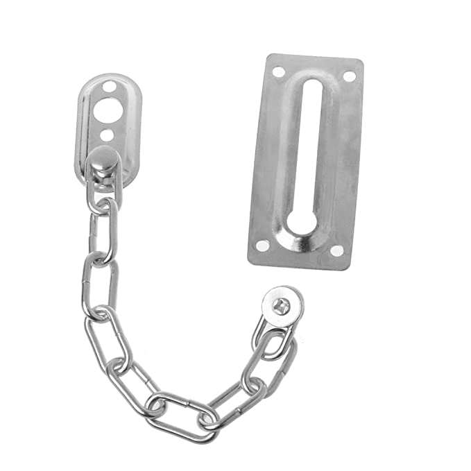 manyo 1/pieza Acero inoxidable puerta cadena 20/cm de longitud de plata//oro de icherheit y anti robo de f/ácil de instalar Plateado