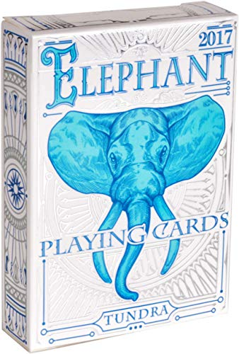 Deck Card Designs - ELEPHANT PLAYING CARDS, Premium Deck of Cards, Cool Intricate Detail, Best Poker Cards, Unique Bright Rainbow & Red Colors for Kids & Adults, Playing Card Decks Games, Standard Size