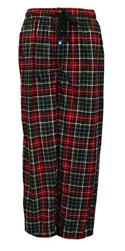 IZOD Men's Matte Silky Fleece Sleep Pant (X-Large, Red/Black/White)