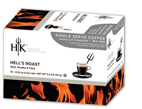Price comparison product image HK Single Serve Coffee,  Hell's Dark Roast,  10 Count (Pack of 4)