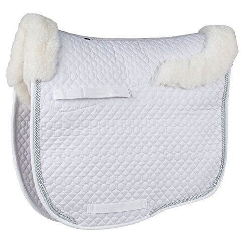 Union Hill Dressage Pad (Lettia Sheepskin Dressage Pad White)