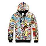 (US) hot sale Men Women Hoodies Sweatshirt Cartoon Rick and Morty print fashion Hoodie casual Pullovers color as the picture M