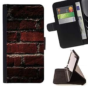 For Samsung Galaxy Note 4 IV Case , Modelo de la textura de ladrillo viejo- la tarjeta de Crédito Slots PU Funda de cuero Monedero caso cubierta de piel