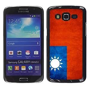 Slim Design Hard PC/Aluminum Shell Case Cover for Samsung Galaxy Grand 2 SM-G7102 SM-G7105 National Flag Nation Country Taiwan / JUSTGO PHONE PROTECTOR