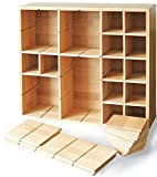 Multikeep Adjustable Shelf - Spice Rack, Floating Shelf, Figurine Shelf, Shadow Box or Drawer Organizer - For Wall Mount, Counter, Cabinet or Drawers - Bamboo - Cookbook People