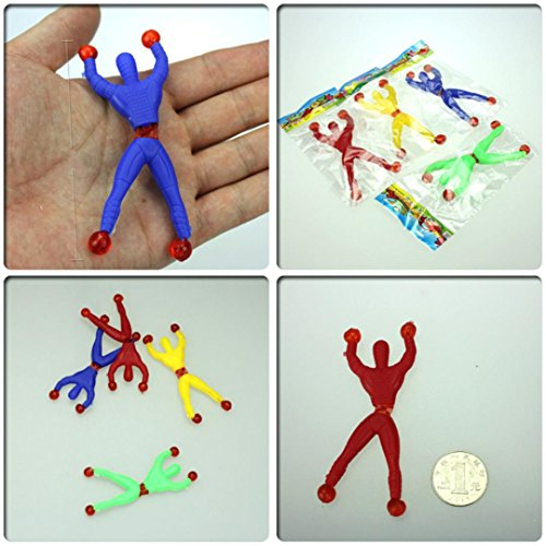 Leegor 100Pcs Nostalgic Fun Climb Men Sticky Wall Climbing Flip Kids Toys