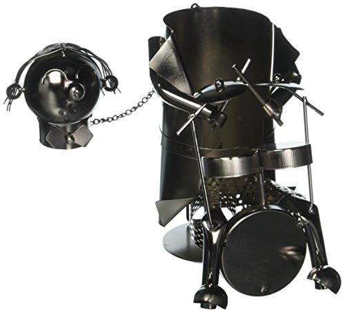 - WINE BODIES ZB510 Drummer Metal Wine Bottle Holder, Charcoal