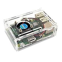 LANDZO Raspberry Pi 3 Model B Acrylic Case with Fan
