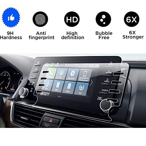 "2018 2019 Honda Accord Screen Protector,Tempered Glass Screen Protector for Honda Accord,Wonderfulhz,9H Hardness,Anti Scratch,Honda 8"" Car Center Touch Screen Protector -"
