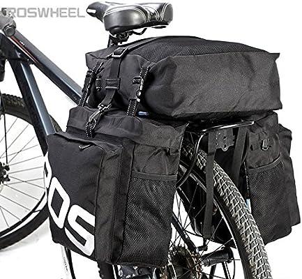 Roswheel - Bolsas de alforja para Bicicleta (37 L, 3 en 1, para ...