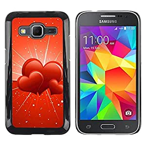 Be Good Phone Accessory // Dura Cáscara cubierta Protectora Caso Carcasa Funda de Protección para Samsung Galaxy Core Prime SM-G360 // Three hearts