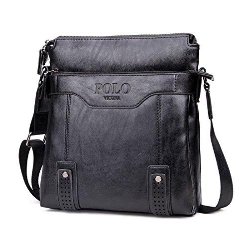 VICUNA POLO Vintage Unique Hollow Bottom Leather Man Bag With Rivet Soft  Men Leather Messenger Bag Fashion Shoulder Bags(black) - Buy Online in Oman. e915c8c310226