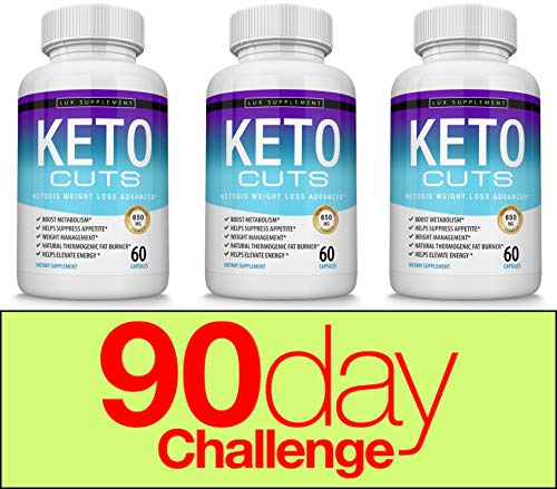 Keto Cuts Pills Ketosis Weight Loss Advanced - Best Ultra Fat Burner Using Ketone and ketogenic Diet, Boost Metabolism and Energy While Burning Fat, Men Women, 60 Capsules Lux Supplement