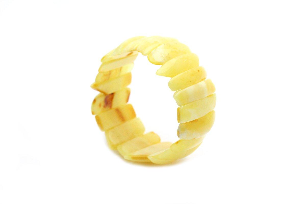 Genuine Natural Baltic Butterscotch Amber (Stretch) Bracelet