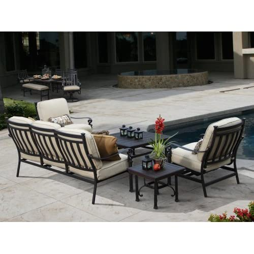 Amazon.com : Veranda Classics Meridian 5 Piece Deep Seating Set : Outdoor  And Patio Furniture : Patio, Lawn U0026 Garden