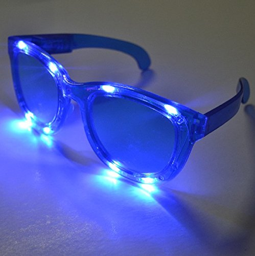 1 Pair LED Jumbo Huge Flashing Light Up Party Glasses Shades by Mammoth Sales