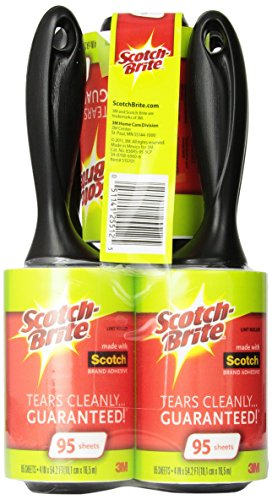 Lint Remover Clothes (Scotch-Brite Lint Roller, 95 Sheets, 5)
